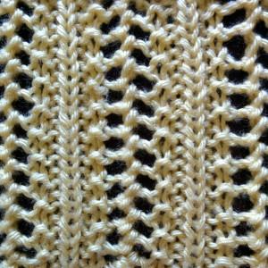 Elaborate Vertical Lace Stitch - Purl Avenue