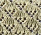 Lacy Eyelet Points Knit Stitch