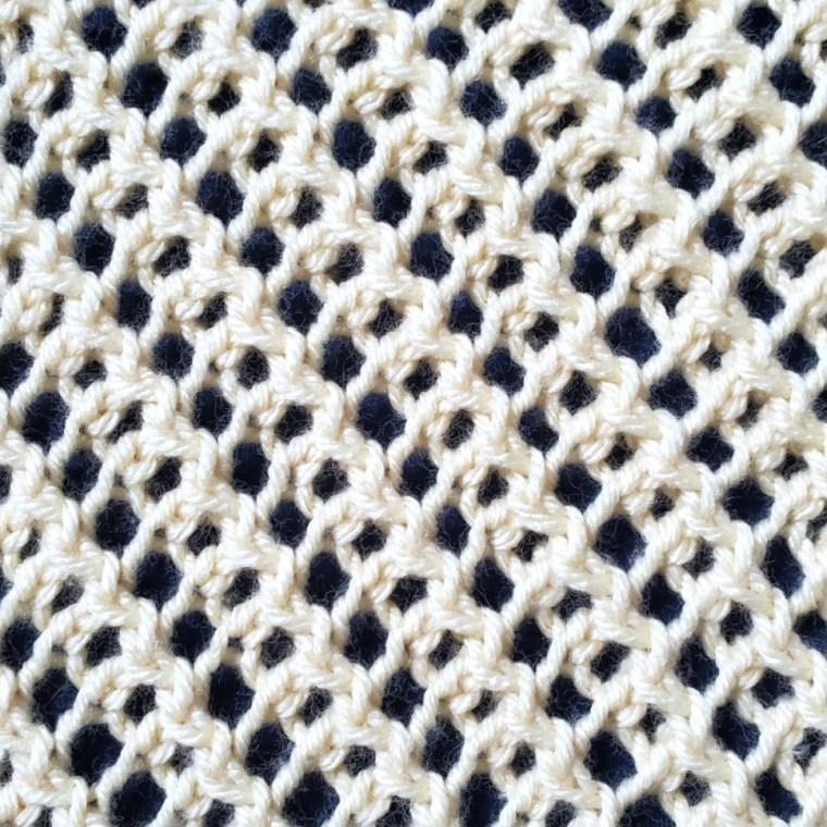 Diagonal Mesh Lace stitch