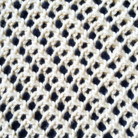 Diagonal Mesh Lace stitch