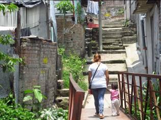 Zulma in her street