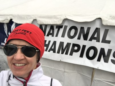 who me? at the national championships?