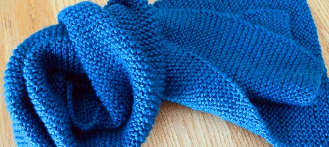 Beginner Knit Scarf Easy Free Knitting Pattern