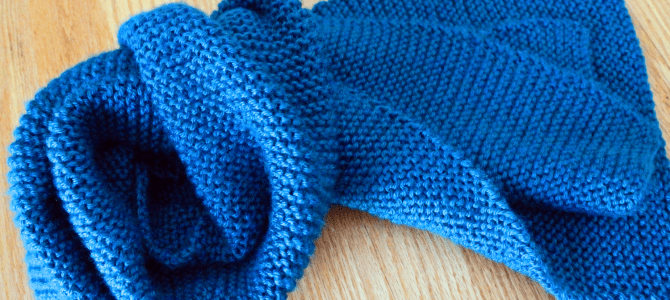Beginner Knit Scarf Easy Free Knitting Pattern