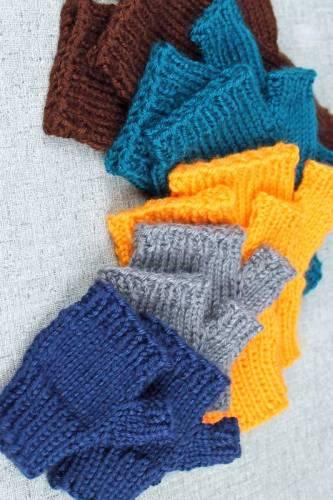 Knit fingerless gloves all sizes, simple basic fingerless gloves knitting pattern by PurlsandPixels