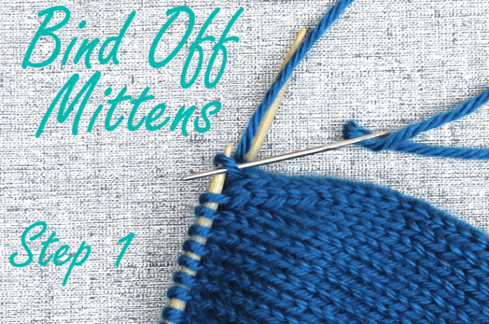 How to bind off mitten fingertips, step 1, knitting tips from Liz @PurlsAndPixels