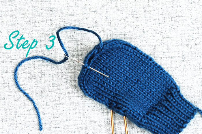 How to bind off mitten fingertips, step 3, knitting tips from Liz @PurlsAndPixels