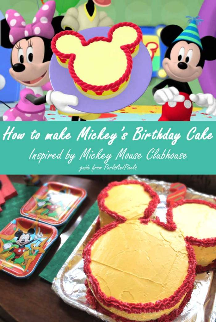 How to make Mickey's Birthday Cake from Disney JuniorMickey Mouse Clubhouse, guide from Liz @PurlsAndPixels