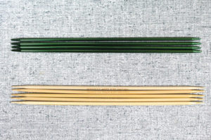Double Point Knitting Needles DPNs in metal and bamboo