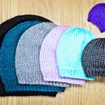 Simple knit beanie, hat knitting pattern in all sizes by Liz @PurlsAndPixels.