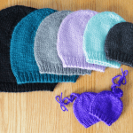 Simple knit beanie, hat knitting pattern in all sizes by Liz @PurlsAndPixels