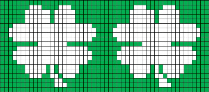 Free four leaf clover shamrock coffee cozy knitting chart and pattern from Liz @PurlsAndPixels
