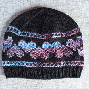 Heart hat knitting pattern from Liz @PurlsAndPixels