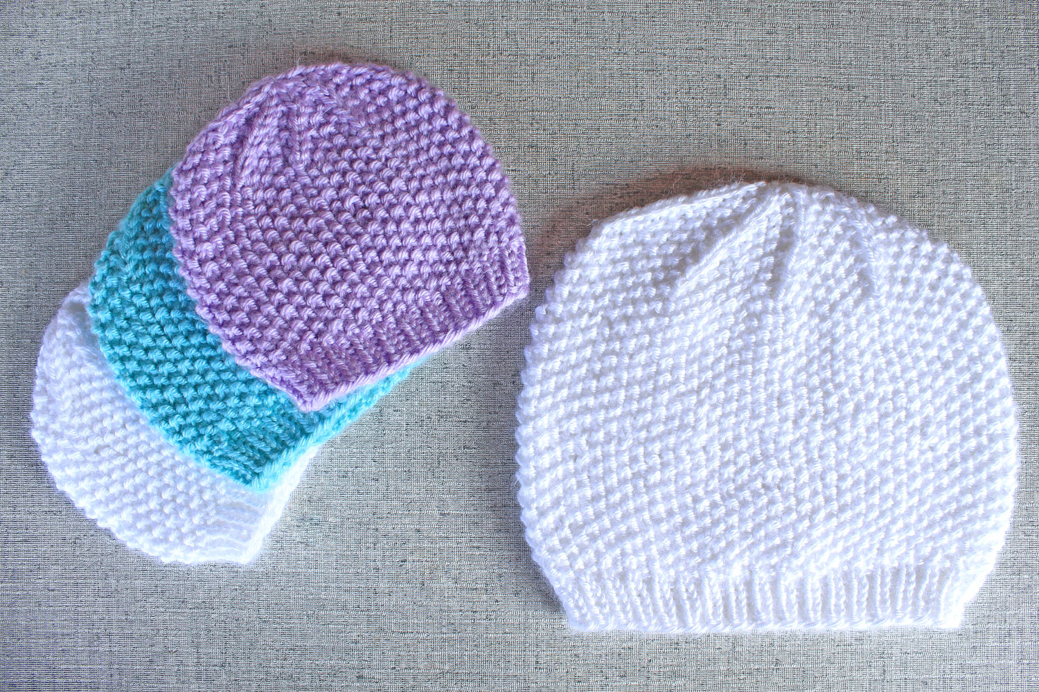 294a8ae4806 ... coupon for seed stitch textured beanie hat knitting pattern in preemie  baby to adult xl sizes