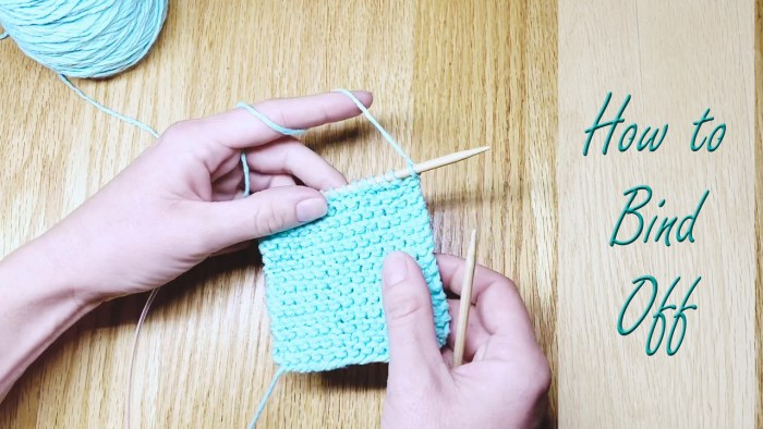 How to end a knitting project with the standard bind off, a knitting lesson from Liz @PurlsAndPixels.