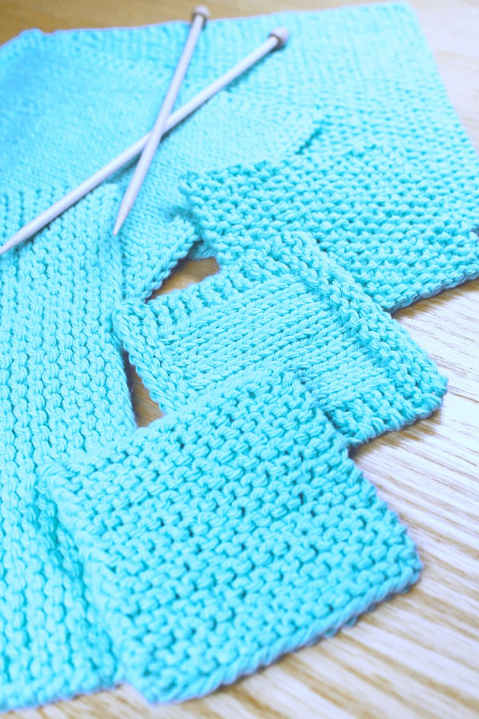 Simple Washcloth Knitting Pattern Collection by Liz @PurlsAndPixels