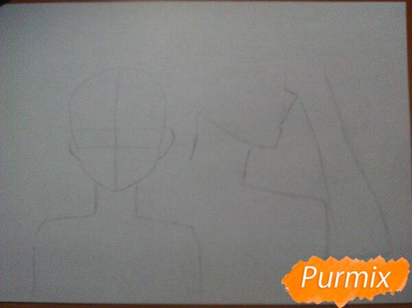 kak-narisovat-anime-devushku-i-parnya-karandashmi-pojetapno-1 Как нарисовать пару из Вокалоидов карандашом поэтапно