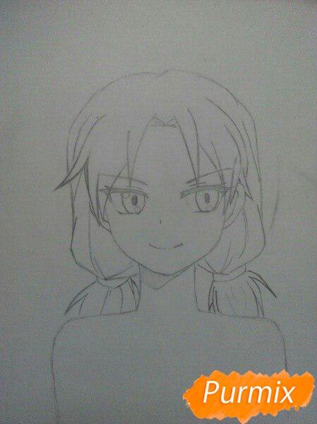 kak-narisovat-anime-devushku-i-parnya-karandashmi-pojetapno-3 Как нарисовать пару из Вокалоидов карандашом поэтапно