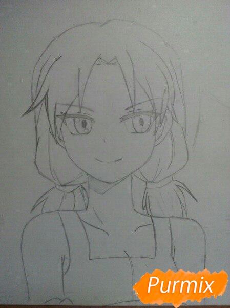 kak-narisovat-anime-devushku-i-parnya-karandashmi-pojetapno-4 Как нарисовать пару из Вокалоидов карандашом поэтапно