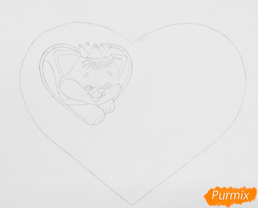 Лет день, рисунок на день влюбленных карандашом поэтапно