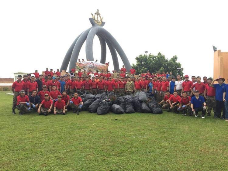 British army brunai uk clean up toly
