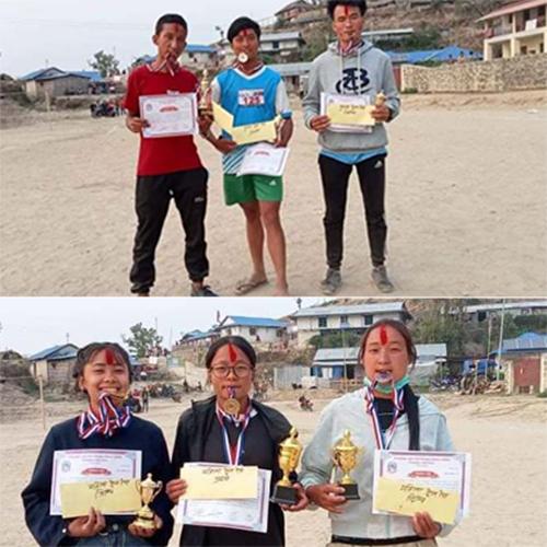 लिम्चुङबुङ दोस्रो ट्रेल  रेसमा पुरुष तर्फ रिजन राई प्रथम, महिला तर्फ मनिषा राई
