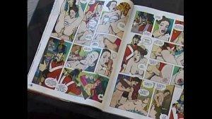 Imagen Anal Salvaje Con Rubia Viendo Comics Porno
