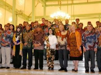 Delegasi Dewan Anggota Asosiasi MK se-Asia di Pendhopo Ageng Puro Mangkunegaran