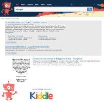 """Kiddle (Google para niños) y la búsqueda de la palabra """"Drogas"""""""