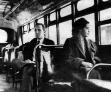 Rosa Parks en el autobús