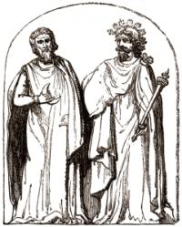 Antiguos druidas en Samhain
