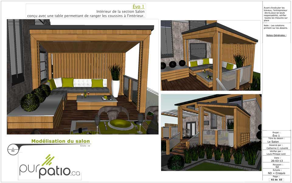 Maison bois avec patio central on43 jornalagora - Plan maison avec patio interieur ...