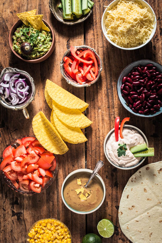 Ingredients, recipes and inspirations for a Mexican Food Party. Let's get the Taco Party started!