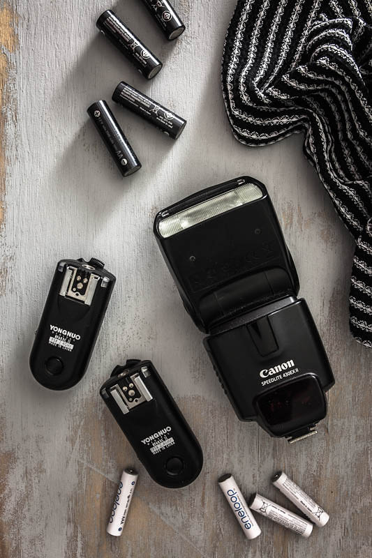 Canon Speedlite 430 EX mit Yongnuo Funkauslösern und Eneloop Akkus