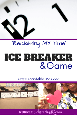 Women's Group Icebreaker Game - Reclaiming my time ⋆ Purple