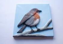 """""""Robin"""" 3D Acrylic Painting - Finished"""