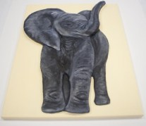 "Finished ""Baby African Elephant"" 3D Acrylic Painting"