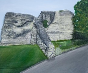 """Pontefract Castle"" 3D Acrylic Painting by Purple Faye"