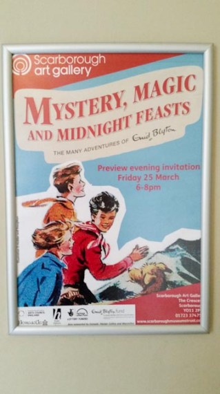 Poster for the Enid Blyton exhibition