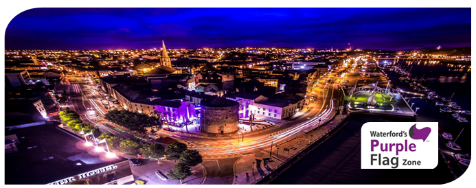 Purple Flag Waterford banner