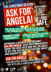 Ask for Angela Christmas Poster