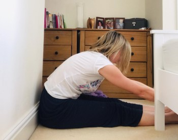 Seated forward bend stretch