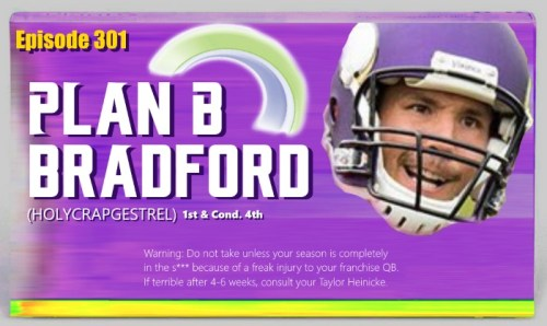 Sam Bradford Minnesota Vikings Plan B
