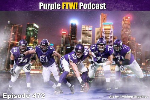 Purple FTW! Podcast: Vikings Line Movers feat. Darren Wolfson + Vikes Over Beers (ep. 472)