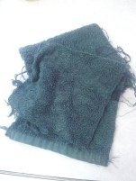 Everybody has old towels lying around - cut one up and use as wiping cloths!