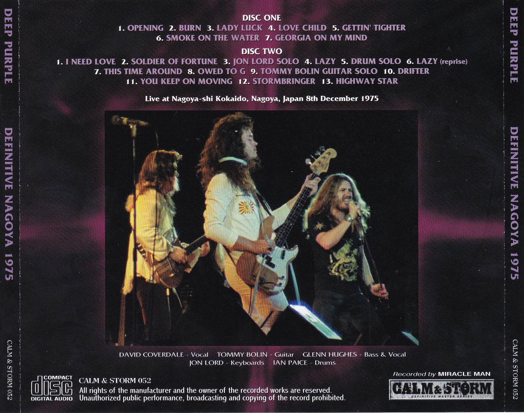 Deep Purple 1975-12-08 Definitive Nagoya 1975 (Calm And Storm) | Purple  Hippies