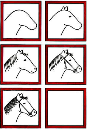 how to draw a horse simple