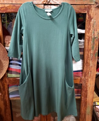 prairie cotton green dress 5710