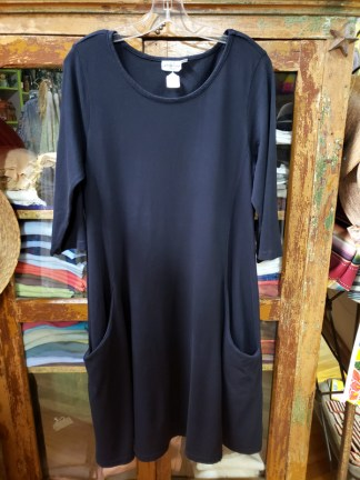 prairie cotton black dress 5805