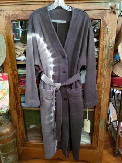 Raquel Allegra Robe Coat Dyed in Night Grey 4904